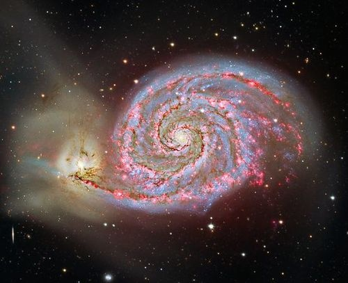 Image of spiral galaxy